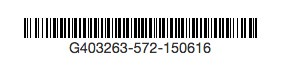 BathExit Gift Certificate Barcode